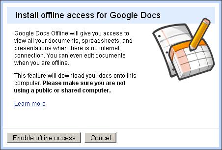 Odsad možete offline raditi sa Google Docs