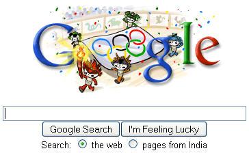 Google logo Olimpijske igre Kina