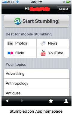 Službena StumbleUpon aplikacija za iPhone i Android download