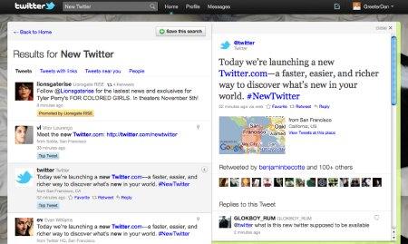Twitter, prvi redizajn