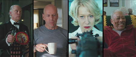 Film Red - Morgan Freeman, Bruce Willis, John Malkovich, Mary-Louise Parker, Helen Mirren