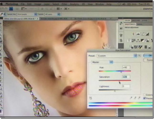 como mudar a cor dos olhos no photoshop