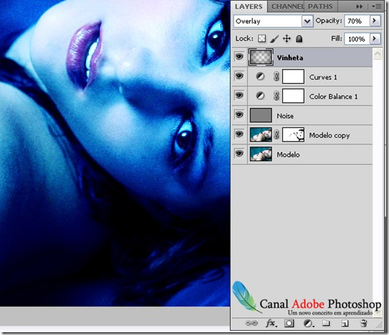 Blue Effect Photoshop tutorial 10