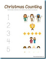 Nativity Preschool Pack Counting