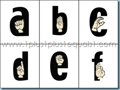 ASL Alphabet Printable Flash Cards
