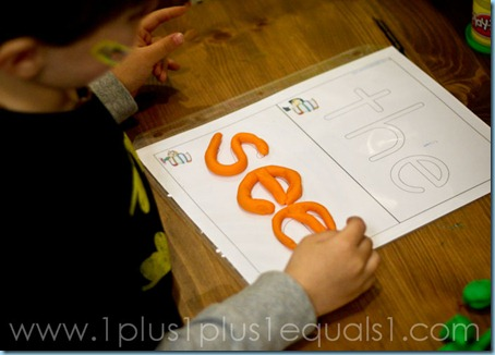 Play Doh Words