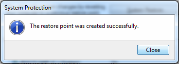 Win7_System_Restore_Create_Restore_Point_Successful