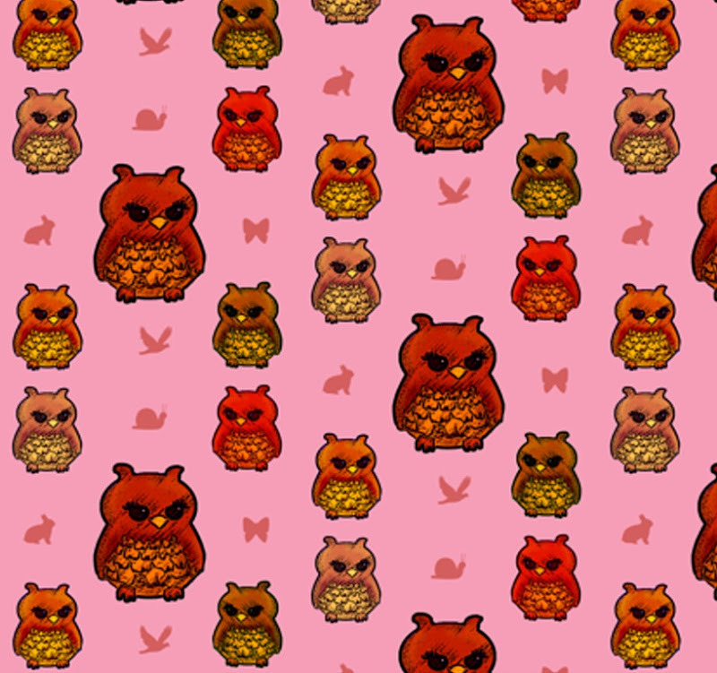 owls pink