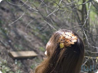 Diadema marrón-detalle