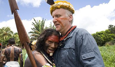 James Cameron was received warmly by Volta Grande indigenous communities. Photo: Amazon Watch