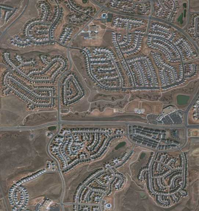 QuickBird Natural Color Image of an Urban Sprawl - Copyright © 2001-2009 Satellite Imaging Corporation