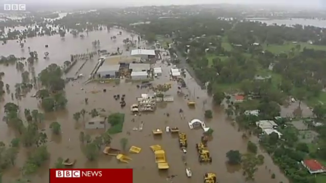 Flooding in Queensland, Australia, 29 December 2010. North-eastern Australia's worst flooding in decades is continuing to cause chaos across the region. BBC