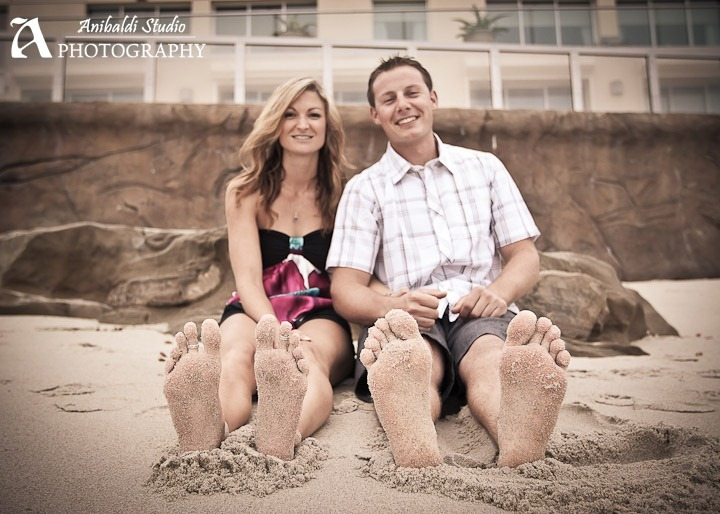 San Diego beach engagement picture