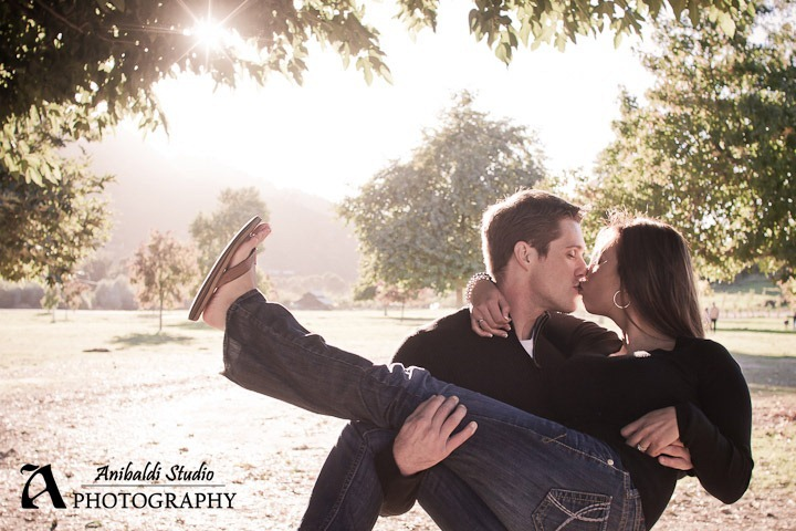 kiss sunburst engagement