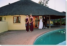 My bridesmaids, my brother and I