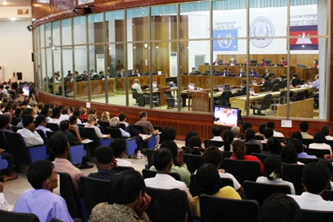 Public gallery of Cambodia Tribunal