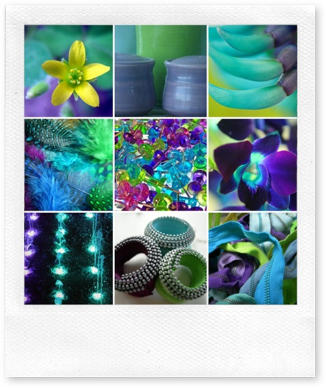 Aqua Purple Lime