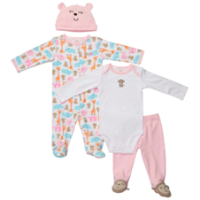 Pink Monkey 4-Piece Set