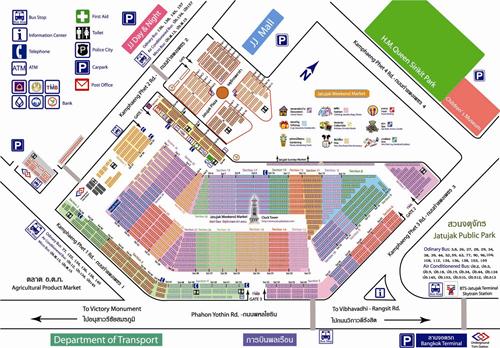 خريطة سوق الاحد بانكوك
