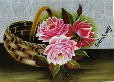 cesta rosas