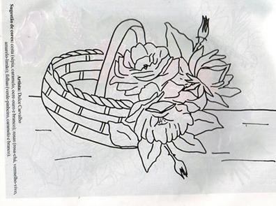 cesta rosas risco