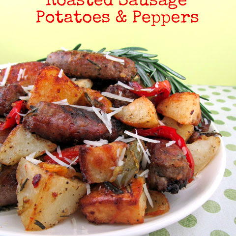 Roasted Sausage, Potatoes and Peppers