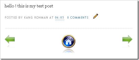 ganti posting lama dan posting baru