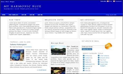 Harmonic Blue template