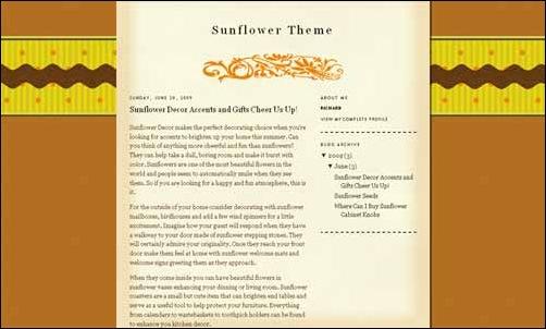 Sunflower-template