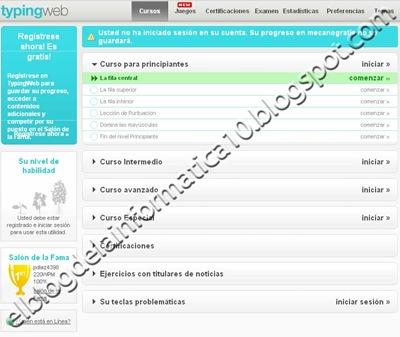 Curso de Mecanografía gratis - Typingweb
