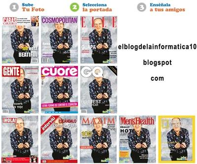 Foto en portada de revista