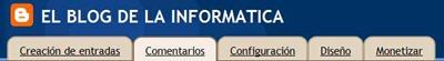 Ficha Comentarios en Blogger