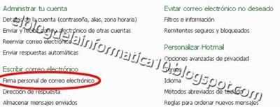Crear firma HTML para correo (Hotmail)