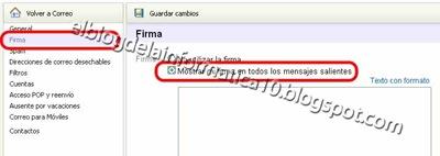 Crear firma HTML para correo (Yahoo)