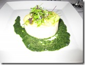 acquerello - Parmesan budino with micro salad