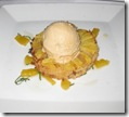 BIX in San Francisco - Pineapple Brown Butter Upside down cake with caramel ice cream