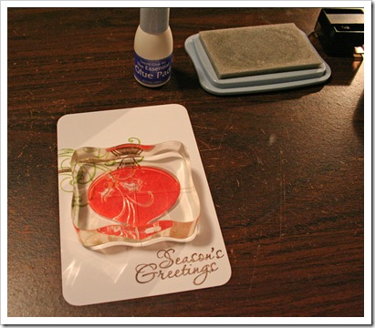 How To Stamp with Glue Pad