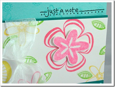 Just A Note CU Pink Flower