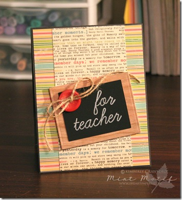 For Teacher Card