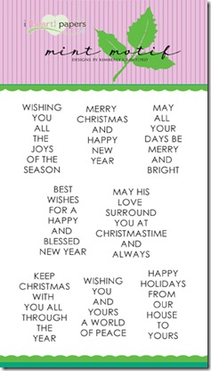 Very Merry Sentiments MM