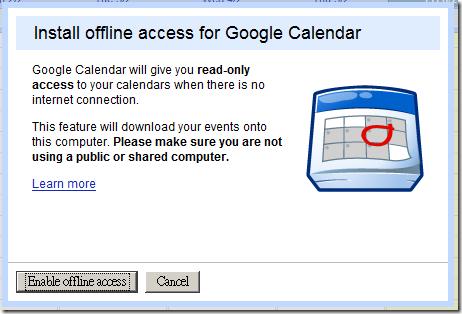 Calendar install