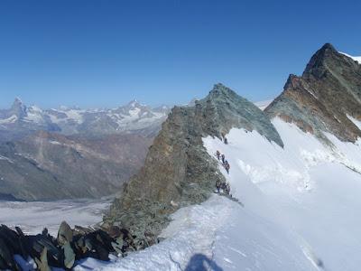 Inici de la cresta al Feejoch