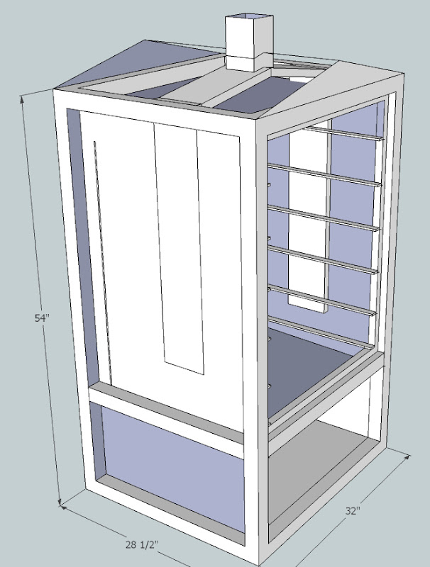 diy vertical smoker plans diy projects. Black Bedroom Furniture Sets. Home Design Ideas
