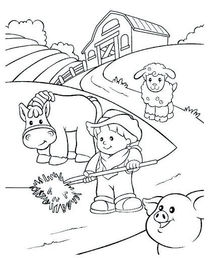 Dibujos de una comunidad urbana y rural para colorear - Imagui