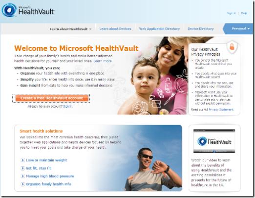 Microsoft-HealthVault-Free-Cloud-PHR