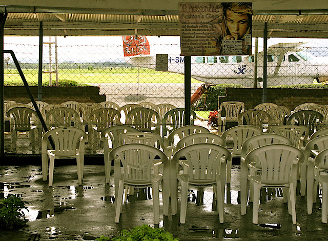 The Waiting Area at Arusha Airport.