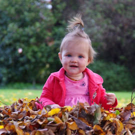poppy autumn portrait by Ike Faithfull - Babies & Children Toddlers ( autumn leaves, autumn, autumn colours, autumn colors, fall, color, colorful, nature,  )