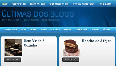 Ultimas dos Blogs