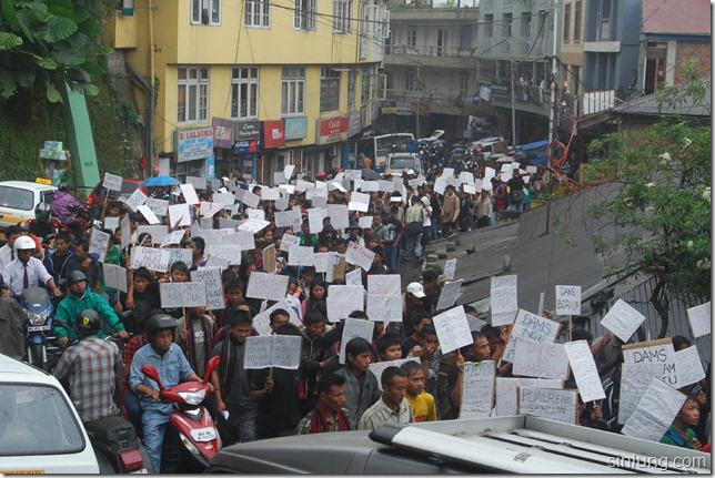 SHDC Mizoram Anti Dam Protest 8