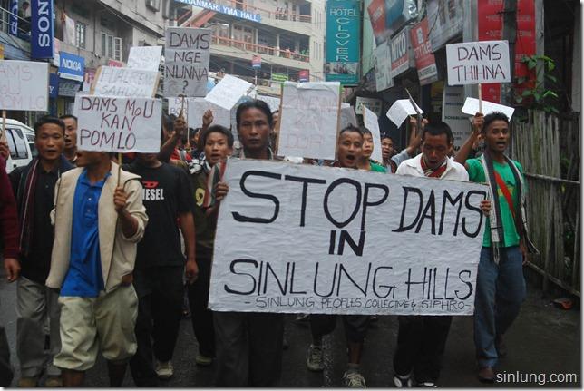 SHDC Mizoram Anti Dam Protest 2